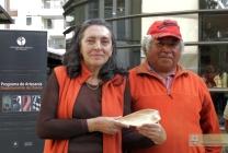 Con Ginette Castro, Decana de la Facultad de Artes de la UCT