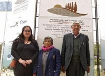 Cristina Arias, Teresa Puel y Adán Huaiquil
